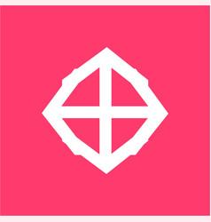 Simple t to dd shield stone symbol vector