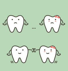 Spacing teeth - diastema vector