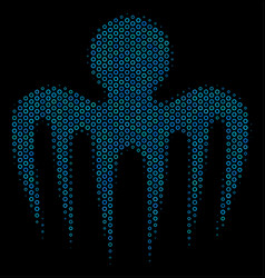 Spectre octopus collage icon of halftone circles vector