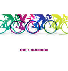 sports people riding bicycles background vector image