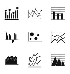 Spreadsheet icons set simple style vector