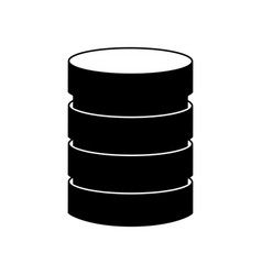 storage database disks vector image