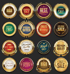 super glossy collection of colorful retro vintage vector image