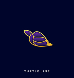 turtle luxury design template vector image