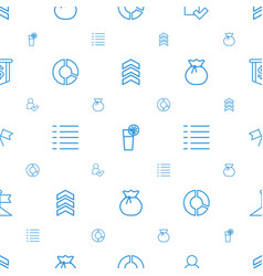 Ui icons pattern seamless white background vector