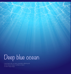 under water text background vector image