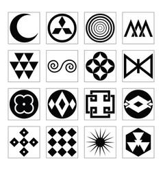 Vintage africa design elements vector