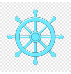 Wheel of dharma icon cartoon style vector