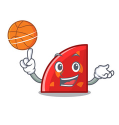 with basketball quadrant character cartoon style vector image