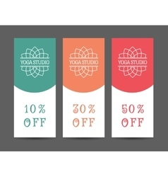 Yoga Studio Discount Coupon Template vector image
