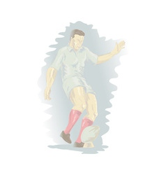 rugby player kicking the ball vector image vector image