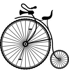 Vintage bicycle vector image vector image