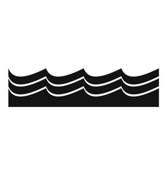 Water icon simple style vector