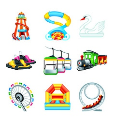 Attraction icons - Set II vector image