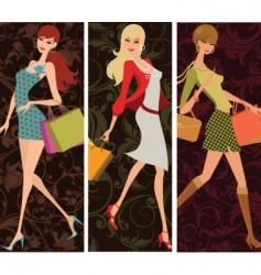 fashion divas vector image vector image