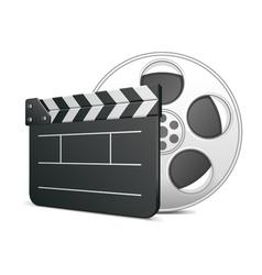 film clap board icon vector image