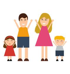 Funny happy cartoon family vector