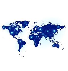 Global communication vector image vector image