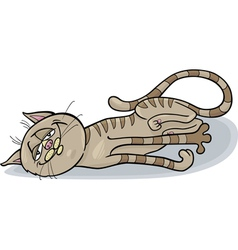 happy sleepy cat cartoon vector image