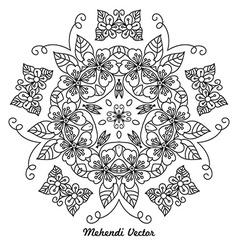 Mandala Rangoli vector image vector image