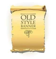 Old style banner vector image vector image