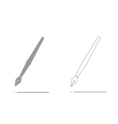 pen grey set icon vector image vector image