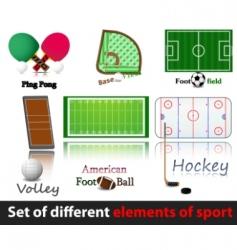 set of elements of sport vector image