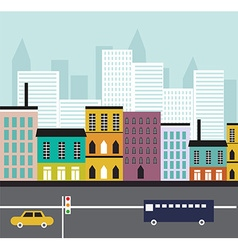 Abstract Street landscape vector image vector image