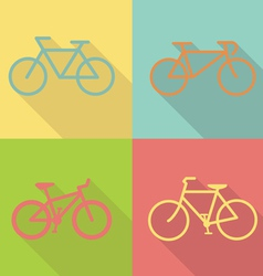 bicycle flat icon design vector image