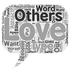 Love is in the Air text background wordcloud vector image vector image