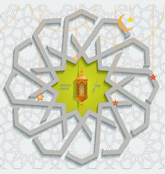ramadan karem islamic greeting card with vector image