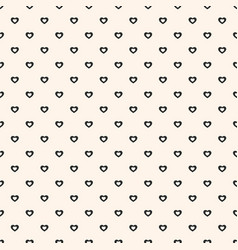 seamless pattern with tiny hearts minimalist vector image