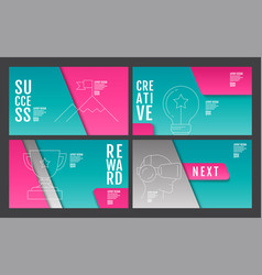 template layout design annual report future vector image vector image