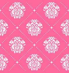 vintage pattern baroque style in pink color vector image vector image