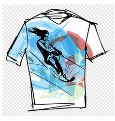 Sport tee vector image vector image
