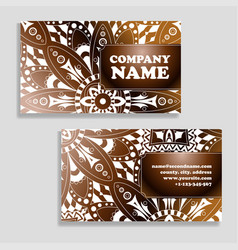template business card geometric vector image vector image
