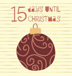 15 days until christmas vector