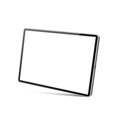 3d tablet pc mockup with blank screen vector image