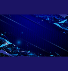 abstract futuristic polygons and lines technology vector image