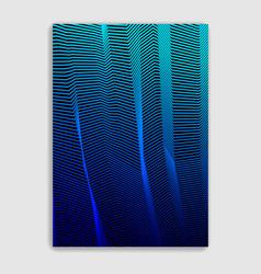 abstract lines minimal modern brochure design vector image