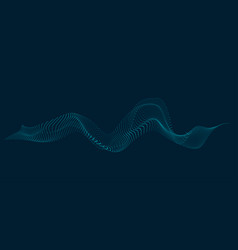 abstract waves and dots vector image