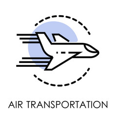 air transportation isolated icon airport and vector image
