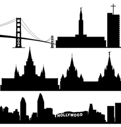 Architecture of california vector