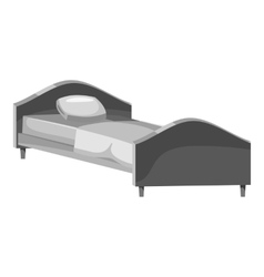 Bed icon gray monochrome style vector image