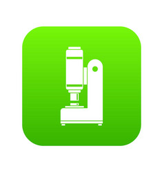 blacksmith automatic hammer icon digital green vector image
