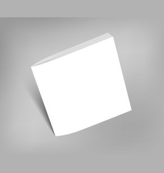 Blank square brochure magazine mock-up vector