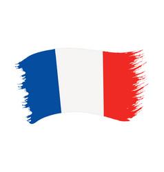 brushstroke painted flag france vector image