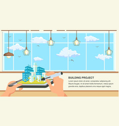 building project flat design vector image