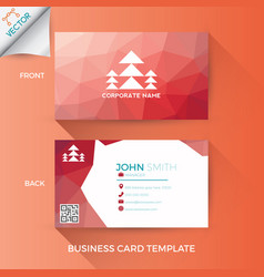 business name card template vector image