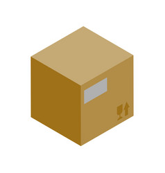 cardboard box isometric icon vector image